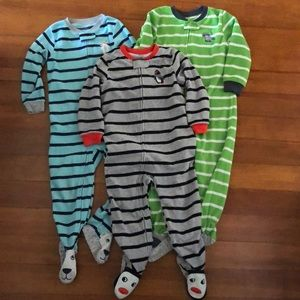Fleece footed pajamas, 3T